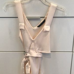 Zara blush silk top size small worn only once